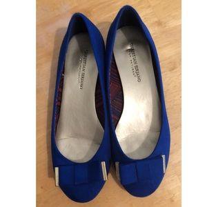 Blue Christian Siriano Flats